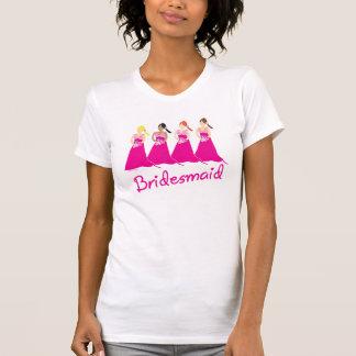 Diseño del rosa de la camiseta de las damas de