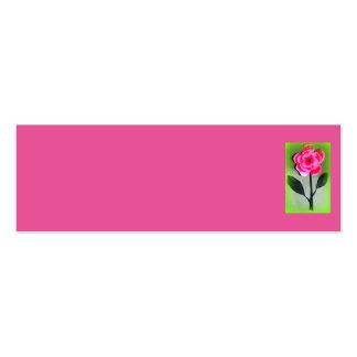Diseño del rosa tarjetas de visita mini
