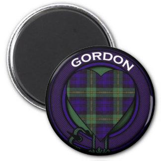 Diseño del tartán del corazón de Gordon Imanes De Nevera