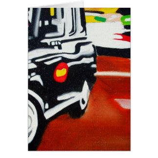 diseño del taxi del negro del taxi de Londres Tarjeta De Felicitación