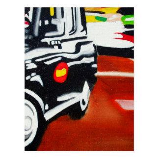 diseño del taxi del negro del taxi de Londres Postal