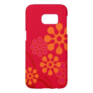 diseño del teléfono celular de la flor 60s funda samsung galaxy s7