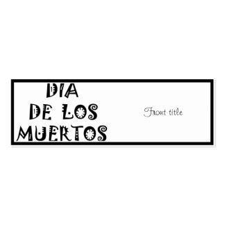 Diseño del texto de DIA DE LOS MUERTOS Tarjetas De Visita Mini