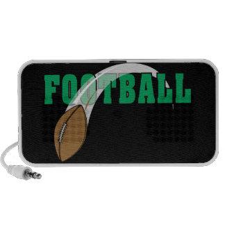 diseño del texto de la bola del poder del fútbol notebook altavoces