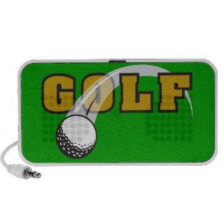 diseño del texto de la pelota de golf mini altavoces