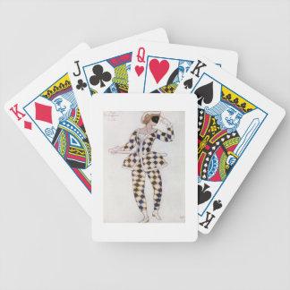 Diseño del traje para el Harlequin, de la bella du Cartas De Juego