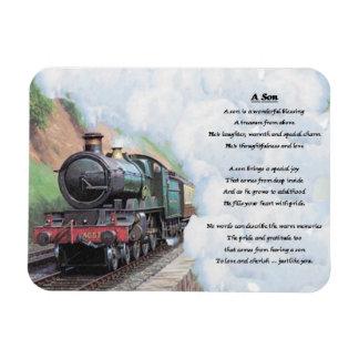 Diseño del tren - imán del poema del hijo