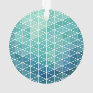 Diseño del triángulo de la aguamarina de la
