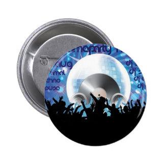Diseño del vector del club del disc jockey pins