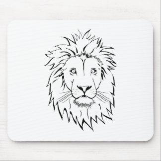 diseño del vector del dibujo del león alfombrilla de ratón
