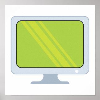 diseño del vector del monitor de la PC de la panta Poster