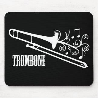 Diseño del vector del Trombone Alfombrilla De Ratón
