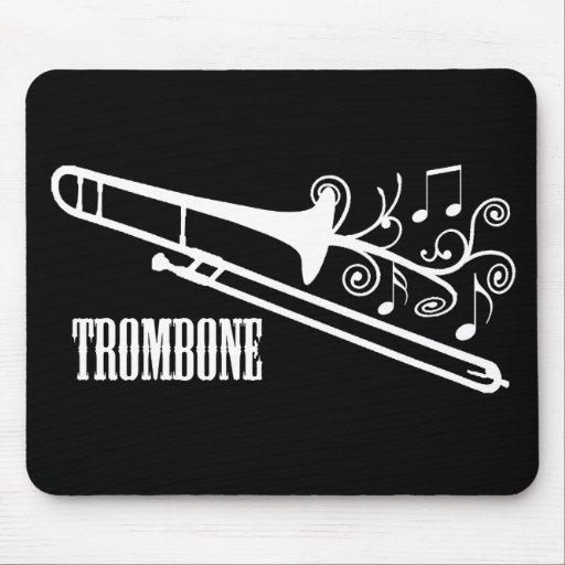 Diseño del vector del Trombone Alfombrillas De Raton
