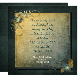 diseño del vintage para la fiesta de cumpleaños invitación 13,3 cm x 13,3cm