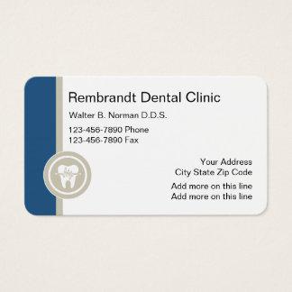 Diseño dental de la clínica tarjeta de negocios