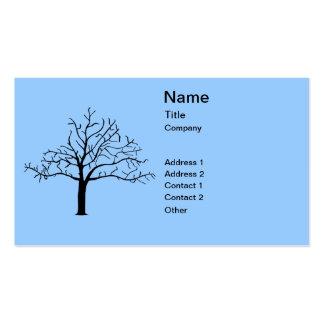 Diseño desnudo del árbol tarjetas de visita