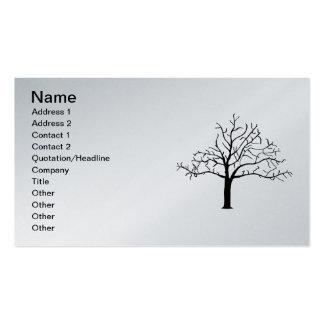 Diseño desnudo del árbol plantillas de tarjetas de visita
