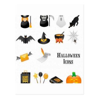 Diseño determinado del icono de Halloween Postal