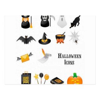 Diseño determinado del icono de Halloween Tarjetas Postales