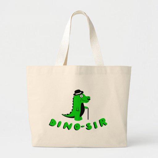 Diseño divertido de DINO-SIR Bolsa De Mano