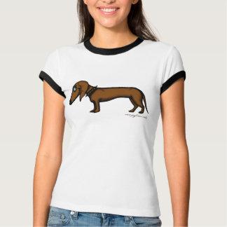 Diseño divertido de la camiseta del dachshund
