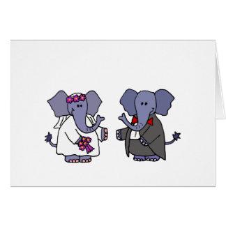 Diseño divertido del boda de novia y del novio del tarjetas