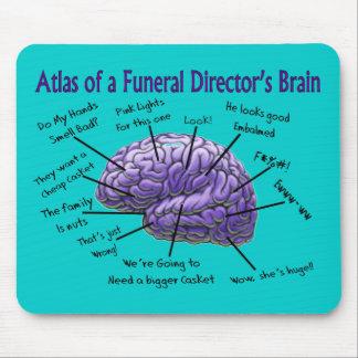 Diseño divertido del cerebro del director de funer alfombrilla de ratón