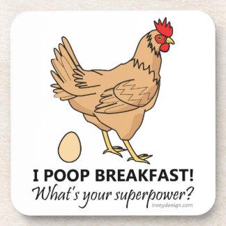 Diseño divertido del desayuno de los impulsos del posavasos