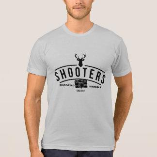 Diseño divertido del fotógrafo de las pistolas camiseta