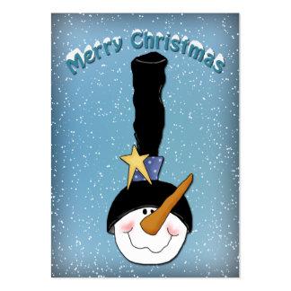 Diseño divertido del muñeco de nieve plantilla de tarjeta de negocio