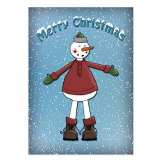 Diseño divertido del muñeco de nieve plantilla de tarjeta personal