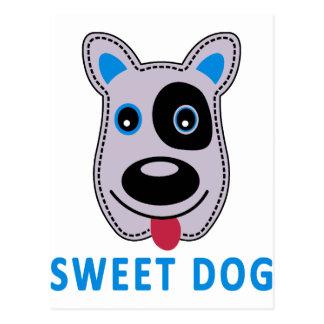 diseño dulce del vintage del perro postal