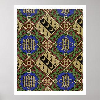 Diseño eclesiástico del papel pintado de la impres posters