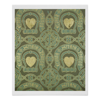 Diseño eclesiástico del papel pintado del adorno d póster