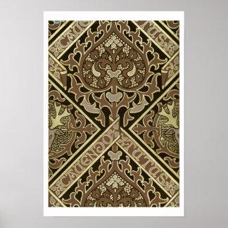Diseño eclesiástico del papel pintado del mosaico impresiones
