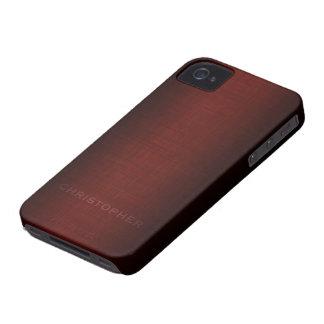 Diseño ejecutivo de hombres con el nombre para los Case-Mate iPhone 4 coberturas