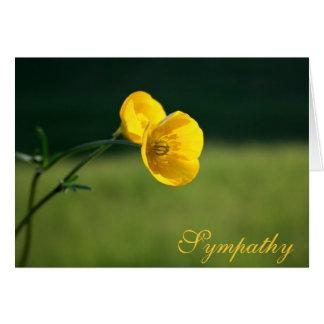 Diseño el | del ranúnculo de la condolencia triste tarjeta de felicitación