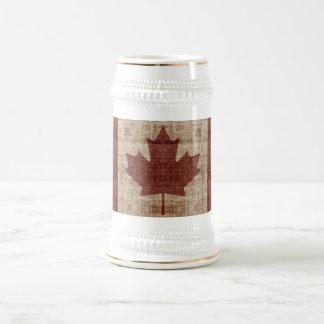 Diseño elegante de la bandera de la hoja de arce jarra de cerveza