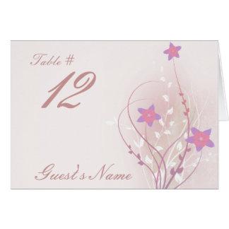 diseño elegante de la flor rosada suave bonita tarjeta pequeña