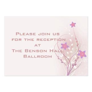 diseño elegante de la flor rosada suave bonita tarjetas de visita grandes