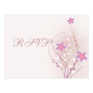 diseño elegante de la flor rosada suave bonita postal