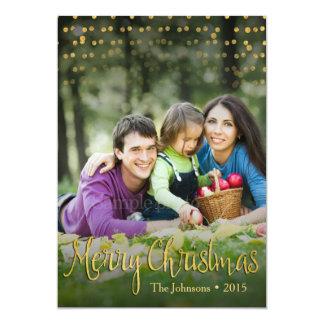 Diseño elegante de la tarjeta de Navidad de los