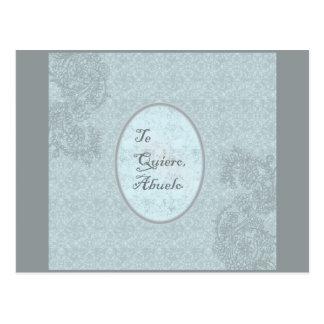 diseño elegante felicitación abuelo tarjeta postal