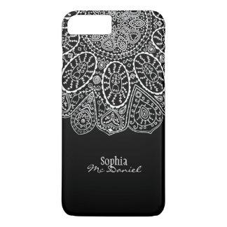 Diseño elegante moderno del círculo de la alheña funda iPhone 7 plus