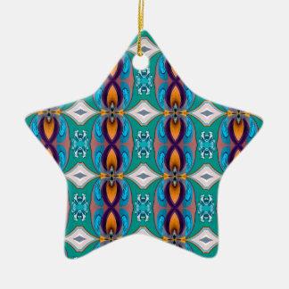 Diseño elegante multicolor de las cadenas adorno de cerámica en forma de estrella