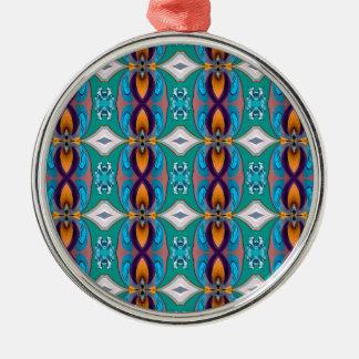 Diseño elegante multicolor de las cadenas adorno navideño redondo de metal