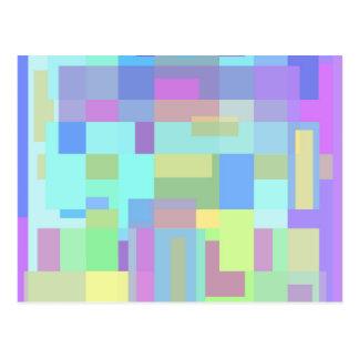 Diseño en colores pastel colorido postal