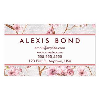 Diseño en colores pastel de la flor de cerezo tarjetas de visita