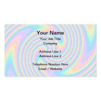 Diseño en colores pastel de la torsión del tarjetas de visita