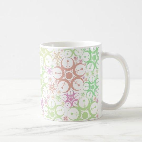 Diseño en colores pastel del círculo de la cosecha taza de café